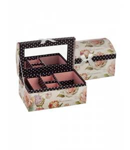 Кутия за бижута рози със заоблен капак