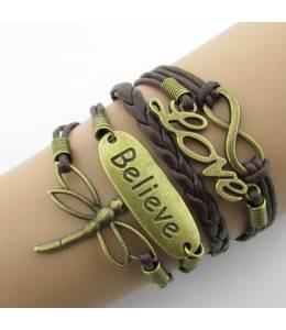 Brown bracelet Seahorse