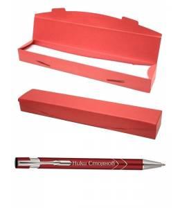 Engraved pen in a cardboard box