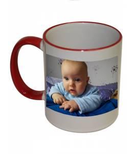 Чаша с Ваша снимка и текст със цветна дръжка