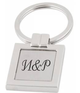 Ключодържател квадрат с гравиран текст