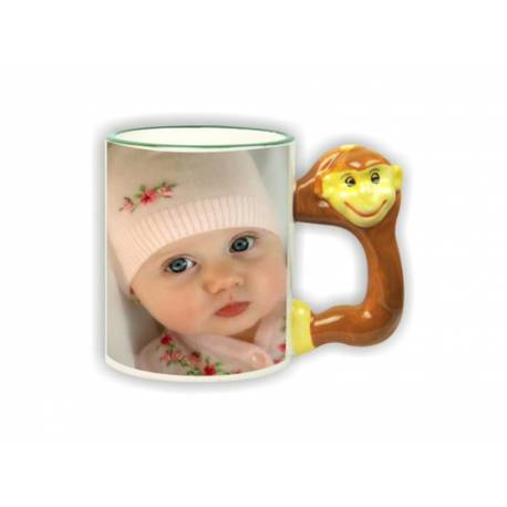 Детска чаша маймунка с Ваша снимка