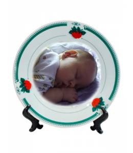 Plate strawbery with your photo