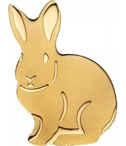 Монета златно късметлийско зайче