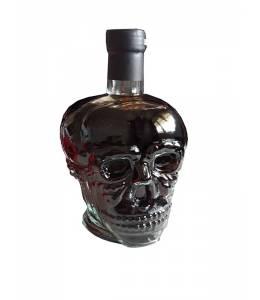 Бутилка вино череп