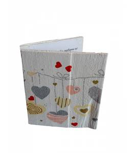 Handmade wooden hearts card