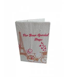 Handmade wooden postcard Paris