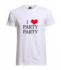 """Мъжка тениска """"I love party"""""""