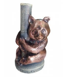 Керамична бутилка вино мечка