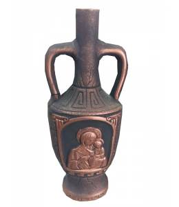 Ceramic bottle of wine Virgin Mary