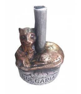 Керамична бутилка вино Леопард