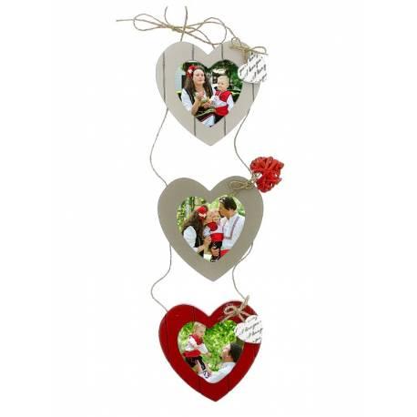 Рамка за стена три сърца