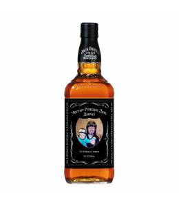 Bottle of Jack Daniels with your photo
