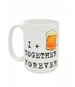 "Халба ""I plus beer together forever"""