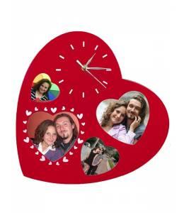 Часовник сърце с 4 снимки