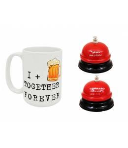 Халба за бира и звънец за управление на жената