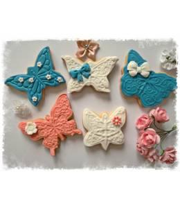 Меденки с декорация пеперуди