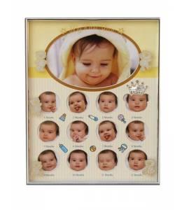 """Рамка за бебе """"Моята първа годинка"""" в жълто"""