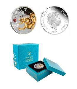 """Сребърна монета """"Пазител на дома-Дракон"""""""
