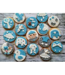 Baby cookies with name