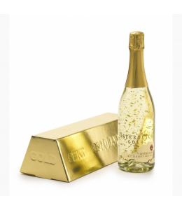 Champagne with gold pieces