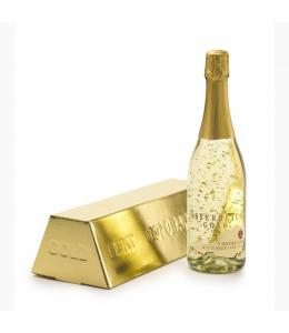 Шампанско със златни частици