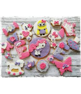 Baby cookies with letter