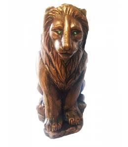 Бутилка вино лъв - керамична
