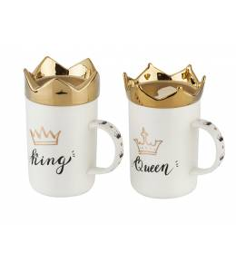 Set of 2 cups King&Queen