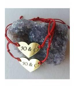 Две гривни сърце с Ваши имена/инициали