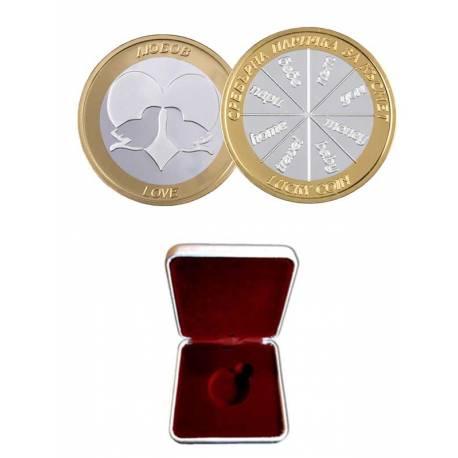 Сребърна паричка за любов