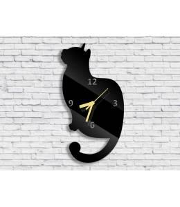 Стенен часовник котка