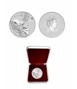 Сребърна монета 1/2 oz Годината на мишката 2020