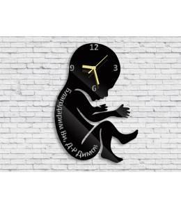 Часовник бебе с надпис