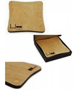 Дървена подложка за чаша