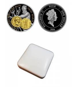 """Сребърна монета """"Нептун-богът на океаните и водите"""""""
