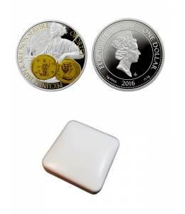 """Сребърна монета """"Монета-богинята на парите и закрилата"""""""