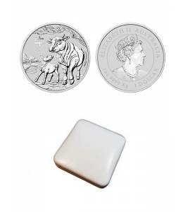 """Сребърна монета 1 Oz """"Годината на бика 2021"""""""