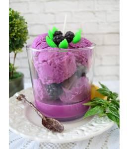 Ароматна свещ виолетов сладолед